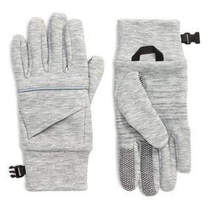 NWT Zella reflectivity grey light heather gloves